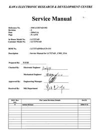 manuel de réparation Akai LCT2701AD