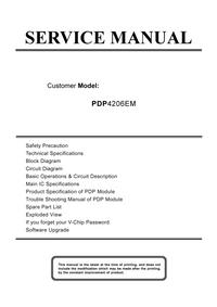 Руководство по техническому обслуживанию Akai PDP4206EM