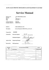 Service Manual Akai PDP4273L