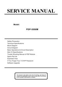 Manual de serviço Akai PDP-5006M