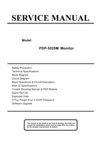 Instrukcja serwisowa Akai PDP-5025M