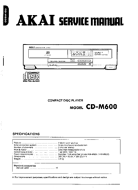 Manual de servicio Akai CD-M600