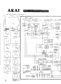 Cirquit Diagram Akai CT-1419PD