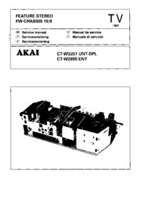Service Manual Akai CT-W2855