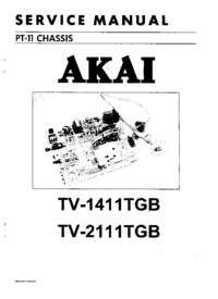 Service Manual Akai TV-1411TGB