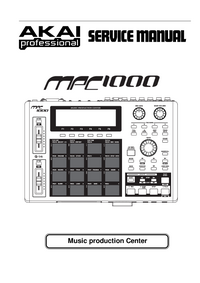 Manual de servicio Akai MPC 1000