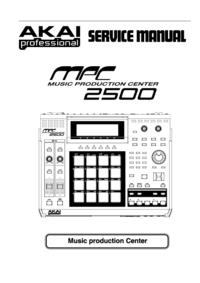 Manual de serviço Akai MPC 2500
