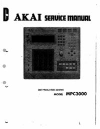 Manuale di servizio Akai MPC3000