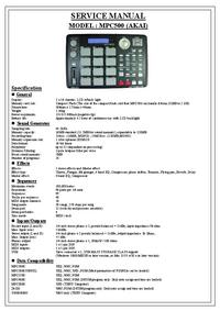 Manuale di servizio Akai MPC500