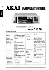 Service Manual Akai S1100