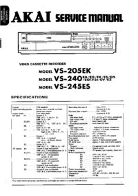 Service Manual Akai VS-245ES