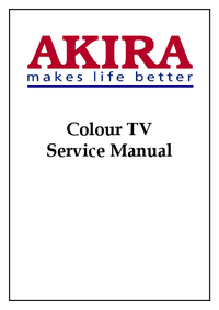 Instrukcja serwisowa Akira CT-21TF9CP