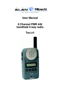 Manual del usuario Albrecht PMR 446