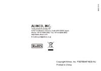 Gebruikershandleiding Alinco DJ-A11
