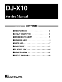 Service Manual Alinco DJ-X10
