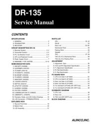 manuel de réparation Alinco DR-135