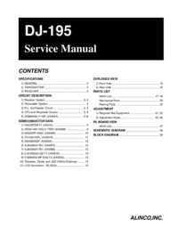 Manual de servicio Alinco DJ-195
