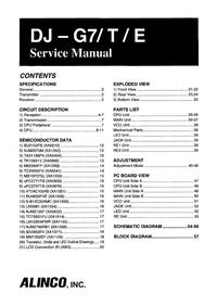Manuale di servizio Alinco DJ-G7T