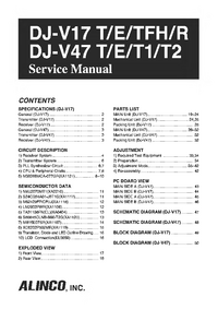 Service Manual Alinco DJ-V17 T