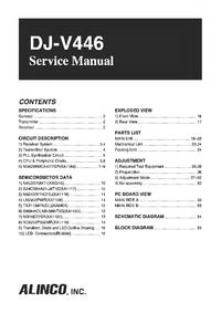 Manual de servicio Alinco DJ-V446