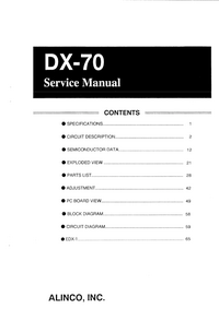Service Manual Alinco DX-70