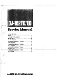 Service Manual Alinco DJ-162ED