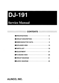 Manual de servicio Alinco DJ-191