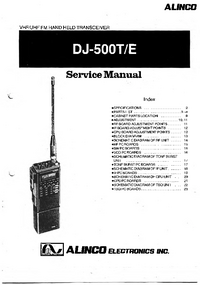 Manual de servicio Alinco DJ-500T