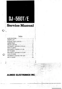 Service Manual Alinco DJ-560T