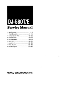 Manual de servicio Alinco DJ-580T