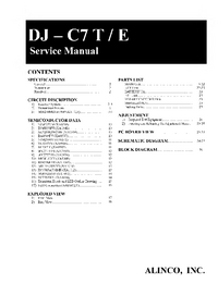 Service Manual Alinco DJ-C7 E