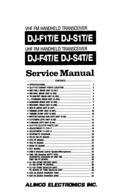 Manual de servicio Alinco DJ-S1E