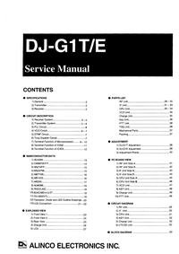 Service Manual Alinco DJ-G1E