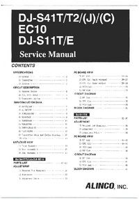 Manual de servicio Alinco DJ-S11T