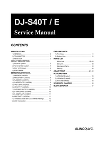 Service Manual Alinco DJ-S40T / E