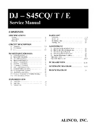 Service Manual Alinco DJ - S45CE