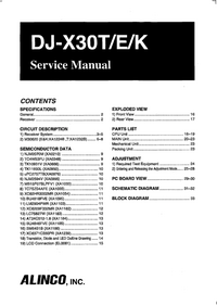 Service Manual Alinco DJ-X30K