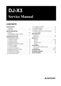 Manual de servicio Alinco DJ-X3