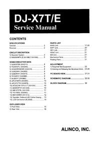 Servicehandboek Alinco DJ-X7E