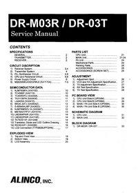 Manual de servicio Alinco DR-M03R