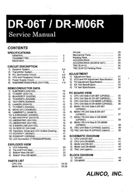 Manual de servicio Alinco DR-M06R