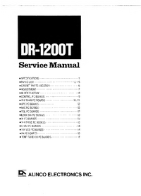 Service Manual Alinco DR-1200T