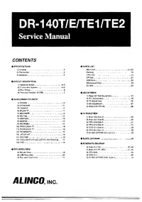 Service Manual Alinco DR-140TE2
