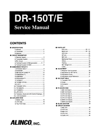 Manual de servicio Alinco DR-150T