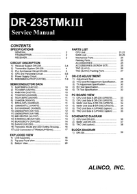 Manual de servicio Alinco DR-235TMkIII