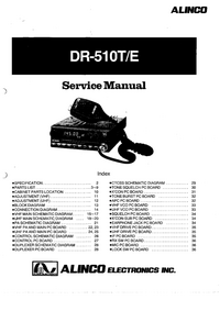 Manuale di servizio Alinco DR-510T