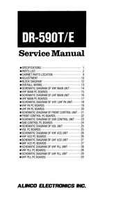 Manual de servicio Alinco DR-590T