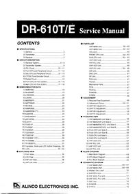 Service Manual Alinco DR-610E