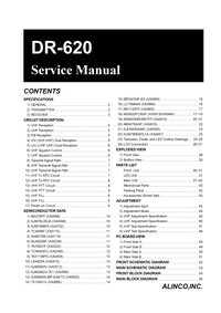 Manual de servicio Alinco DR-620