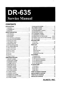 Instrukcja serwisowa Alinco DR-635